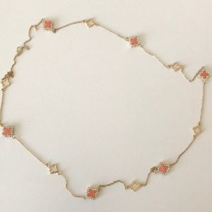 Gold Chain Necklace with Crystals